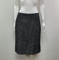 Ann Taylor Women's Size 8 Wool Blend Knee Length Gray Straight Skirt