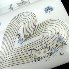 Rosenthal Deckeldose Dose Herz Dekor Handbemalt Porcelain Box by Raymond Peynet
