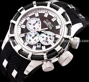 Invicta Men Bolt Chronograph Titanium Case MOP Dial Black SS Classic Watch 32960