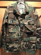 Official US Army Temperate Coat Woodland Camo Combat Long Sleeve Uniform Shirt