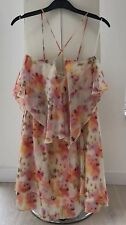 GUESS Mini Multicolour Floral Summer Dress Crossed Straps On The Back Size M