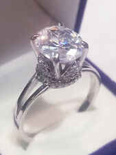 ring White Gold ovr Size 7 2.75 Ct Oval cut Solitaire Promise Engagement