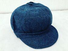 Ladies 60's Retro Baker Boy Hat Navy 57cm