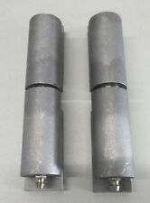 """Pair of 5"""" Aluminum Barrel Hinges with Plate"""
