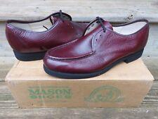 NEW Mason Oxford Dress Shoes Burgandy Sz 10 D NOS Leather Casual dress shoes