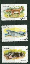 Gb locals: Staffa (Scotland) 1973 Mammals 3v Cto short set: Mole, Fox, Grey Seal