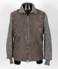 $5675 NWT BRUNELLO CUCINELLI SUEDE LEATHER FUR LINED / THICK CASHMERE Jacket - M