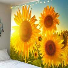 Art Sunflower Print Tapestry Psychedlic Wall Hanging Throw Tapestry Home Deco US