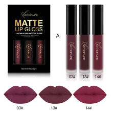 3PCS Waterproof Long Lasting Matte Liquid Lipstick Cosmetic Sexy Lip Gloss Kit