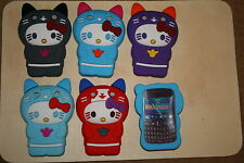 Blackberry 9320 9220 Lindo 3d Novedad Kitty Cat Silicona Funda