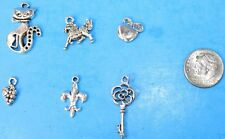 6pcs Tibet Silver Pendants LOT #24 Mixed Crafts Jewelry Making Charms