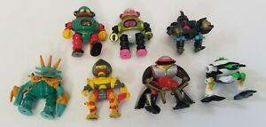 Vintage Galoob Micro Machines ZBots - 7 Figures -1990's Z-BOTS Nice Some Rare