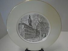 Wedgwood  Nassau Hall Collector Plate The Chapel Engraved Bone China