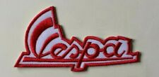 VESPA SCOOTER MOD- RED- SIGNATURE -Sew on Iron on Embroidered- Patch