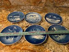 "New Listing6 Vintage B & G Bing Grondahl Jule Aften 7"" Porcelain Christmas Plates Denmark"
