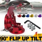 Flip Up Tilt Quick Release Steering Wheel Hub Adapter Body Snap Off Boss Kit Red