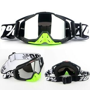 Motorbike Motocross Race Goggles Glasses Outdoor Offroad ATV UTV Anti-UV Bike