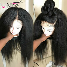 """13x4 Lace Front Human Wigs With Baby Hair Preplucked Yaki Straight for Women 18"""""""