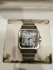 Cartier Santos Mid size mens/unisex Automatic Steel Watch With Box