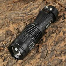 Long Range Mini Cree LED Flashlight Rechargeable Torch -3 Mode
