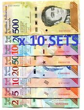 VENEZUELA 2 5 10 20 50 100 200 500 Bundle 2018 x 100 = 800 Pcs Lot SOBERANOS UNC