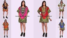 6 Color Dashiki African Mexican Poncho Tribal Shirt Blouse Cotton Unisex Var AU