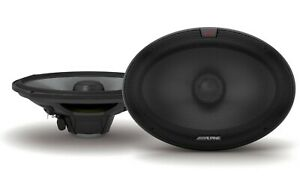 Alpine R-S65 300W/ 100W RMS 4 Ohm 6.5in Two Way Coaxial Car Speakers