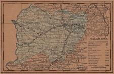 Salamanca. Castilla y León. mapa antiguo de la provincia 1905 Antiguo Viejo