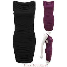 Viscose Round Neck Sleeveless Dresses Mini