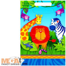 Birthday, Child Animals Plastic Party Bags