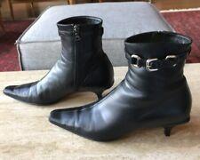 Prada Ankle Boots, Black Leather Size 39.5 (9US) Fabulous!!