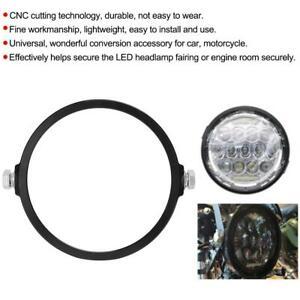 5.75in Universal Motorcycle Aluminium Round Headlight Mounting Bracket Black