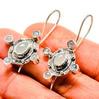 "Rainbow Moonstone 925 Sterling Silver Earrings 1 3/4"" Ana Co Jewelry E413890F"