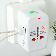 Dual 2 USB World Universal Adapter Travel AC Power Charger Plug converter Plug