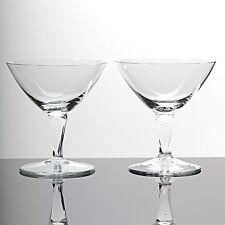 2 Cocktailschalen Gläser Wilhelm Wagenfeld Glas Lobenstein Art Déco Bauhaus 30er