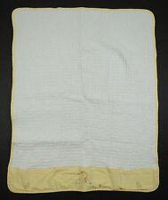 Vitamins White Yellow Gingham caterpillar Grasshopper Blanket Boys Girls Baby