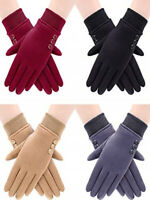 4 Pairs Women Winter Warm Gloves Touchscreen Windproof Gloves Lined Thick