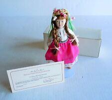 Danbury Mint Porcelain Dolls of the World Tanya Representing Russia