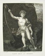 San Jean-Baptiste nel deserto Raphaël Wicar Bervic sc 1791 Raffaello Sanzio