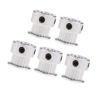 5pcs Aluminum GT2 Timing Belt Pulley 5mm Bore 20 Teeth for RepRap 3D Printer