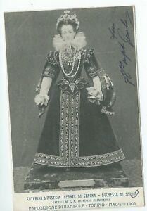 Printed postcard   Esposizione di Bambole. Torino 1903. Posted 1903  g condition