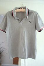 Fred Perry grey polo shirt size S in good condition