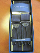 ALBERT THURSTON BLACK MOIRE BRACES ONE SIZE
