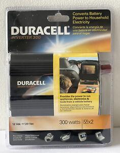 Duracell 300 Watt Inverter - Convert Car Battery to Household Electricity - RARE