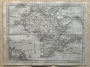 1760 Africa Original Antique Map By Thomas Jeffreys 260 Years Old