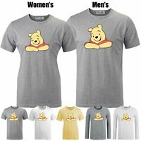 Winnie the Pooh Cute Bear Design Couples T-shirt Men's Women's Graphic Tee Tops
