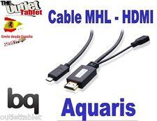 """CABLE MHL HDMI PARA TABLET BQ AQUARIS E10 10.1"""" QUAD CORE"""