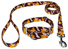 Country Brook Petz® Burgundy and Gold Camo Martingale Dog Collar and Leash