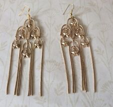 Contemporary Gold Metal Chandelier Style Earrings