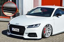 Frontspoiler Splitter aus ABS für Audi TT TTS 8S S-Line mit ABE in Schwarz Glanz